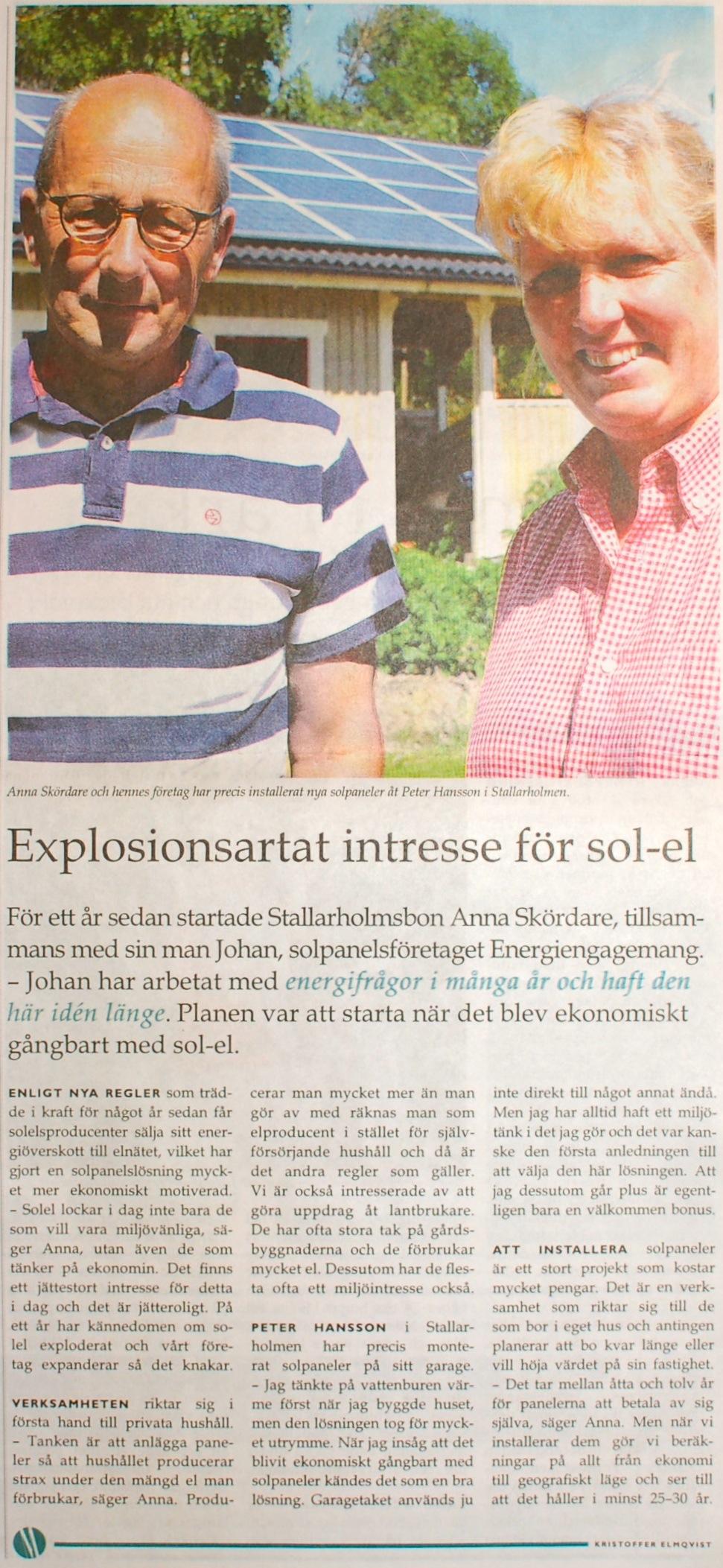 Explosionsartat intresse för sol-el